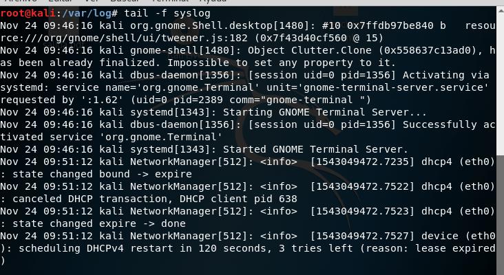 El comando Tail en Ubuntu/Debian
